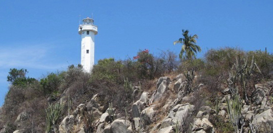 Looking back towards the Puerto Escondido light house.