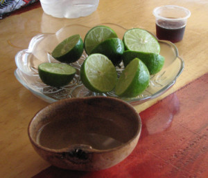 How to drink mezcal in Oaxaca...out of a dried gourd!