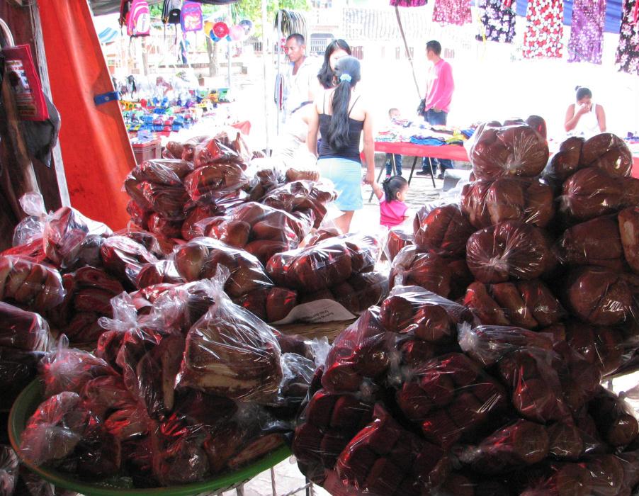 fresh bread mexico market puerto escondido rural town