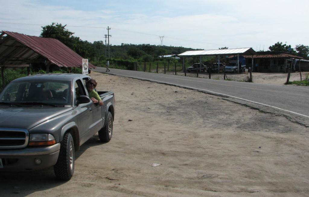 turnoff to santa domingo oaxaca highway 200 mexico